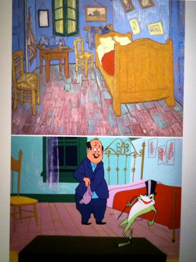 Van Gogh as inspiration for One Froggy Evening cartoon, Chuck Jones