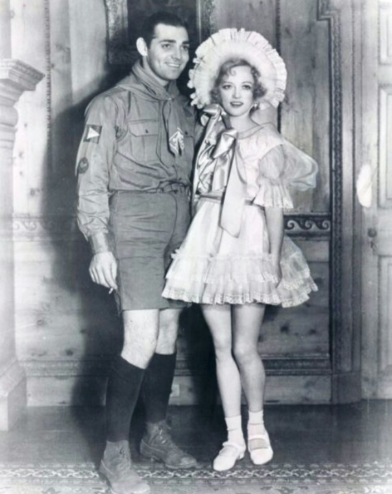 clark gable and marion davis, costume party