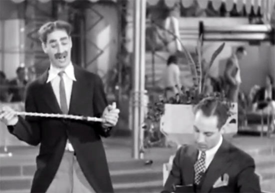 groucho marx and zeppo marx, animal crackers, dictation scene
