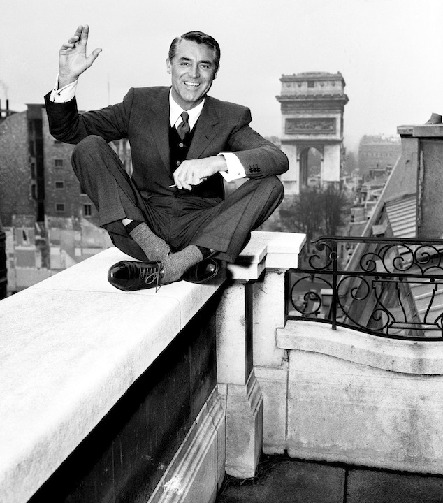 Cary Granting sitting on ledge