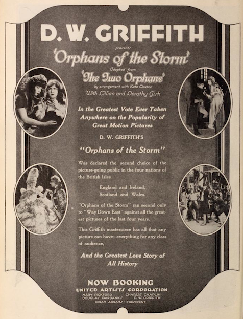 wo orphans with Lillian and Dorothy Gish