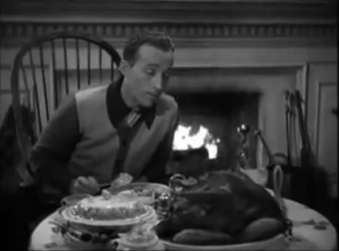 Bing Crosby with turkey, Thanksgiving