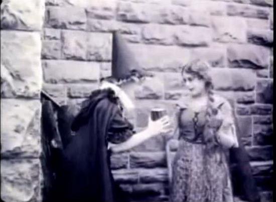 Cinderella 1914, mary pickford as cinderella and inez marcel as the fairy godmother