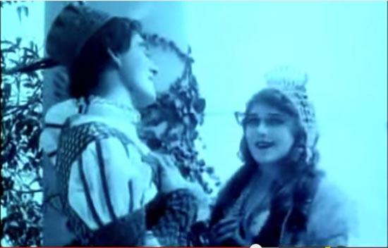 Prince Charming is enamored with Cinderella, Cinderella 1914, mary pickford, owen moore