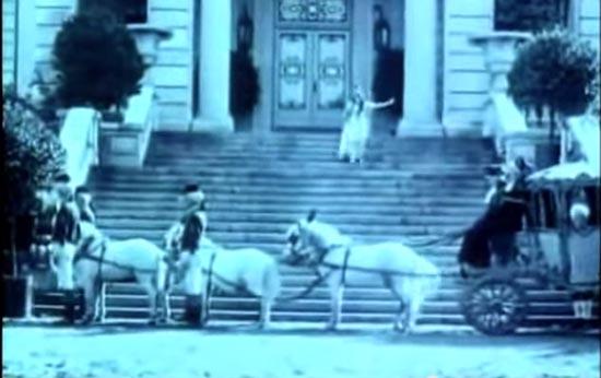 cinderella 1914, at the stroke of midnight, cinderella runs, mary pickford
