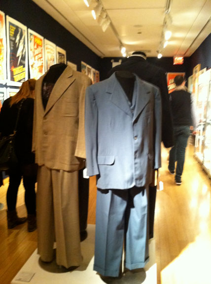 A Lou Costello beige suit from Lost in a Harem AND a blue suit from A&C in Hollywood