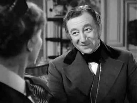 Melville Cooper as Mr. Collins in Pride and Prejudice 1940