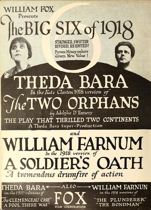 Two orphans ,1915, Theda Bara