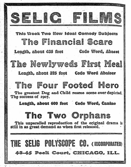 orphans ad for original 1907