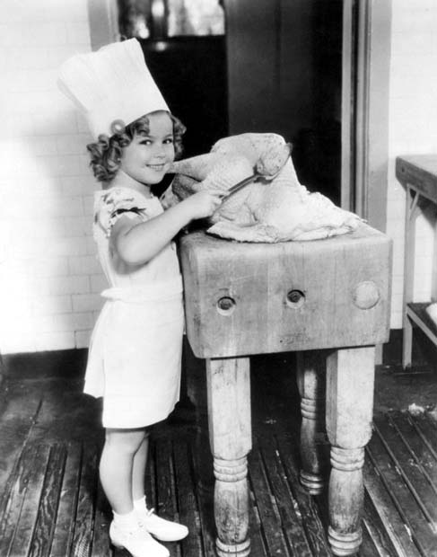 Shirley Temple with turkey, Thanksgiving