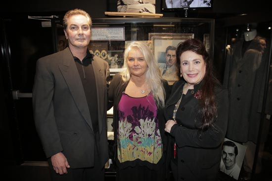 Tyrone Power Jr., sister Taryn Power and The Hollywood Museum president and founder Donelle Dadigan