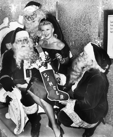 Ginger Rogers with Santas