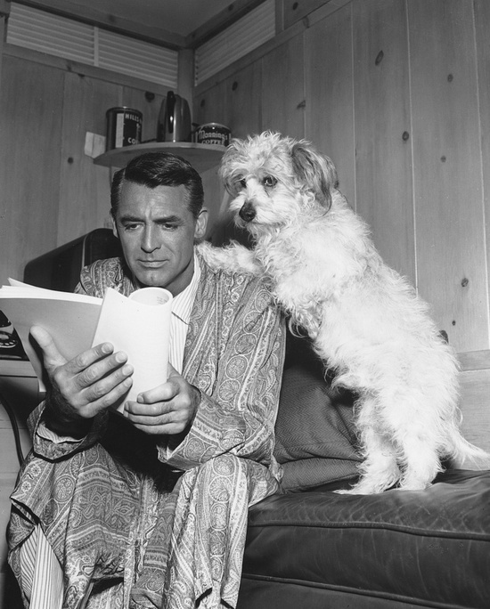CAry GRant and Dog