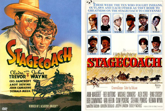 Stagecoach 1933 and 1966 films