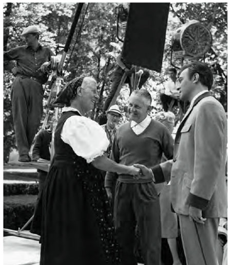 Maria von Trapp on the set of The Sound of Music
