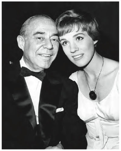 The Sound of Music World Premiere, March 2, 1965. Composer Richard Rodgers with Julie Andrews