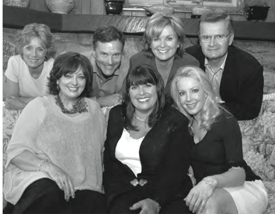 The Sound of Music film kids; Reunited in 2005 for the 40th anniversary. Shown from left, back row: Charmian Carr, Nicholas Hammond, Heather Menzies, Duane Chase; front row: Angela Cartwright, Debbie Turner, Kym Karath
