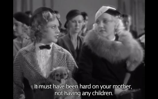 42nd Street (1933) 42nd Street (1933)... It must have been hard on your mother, not having any children. -Ginger Rogers as Ann
