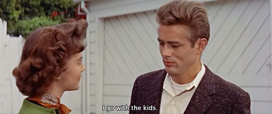 Rebel Without a Cause (1955)... I go with the kids. -Natalie Wood as Judy