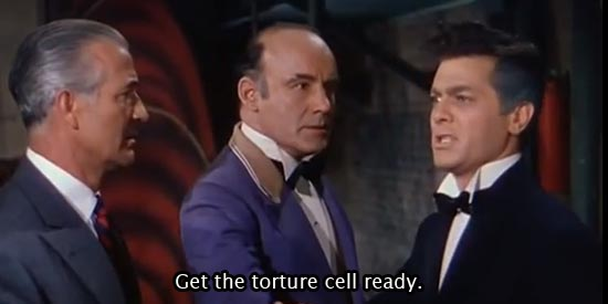Houdini (1953)  Get the torture cell ready. -Tony Curtis as Harry Houdini