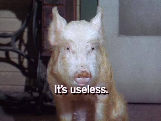 arnold, green acres, it's useless