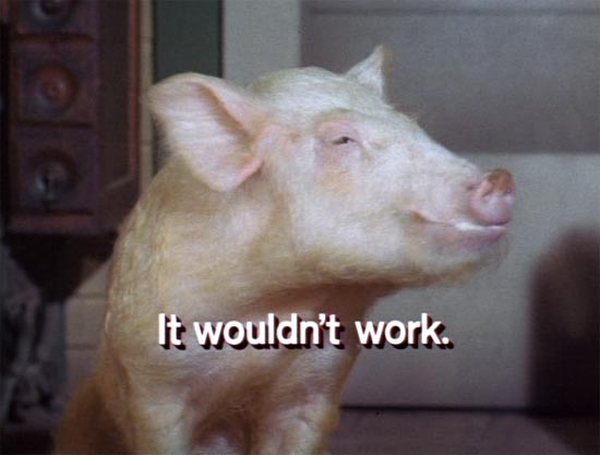 """Green Acres, Arnold the pig says """"It wouldn't work!"""