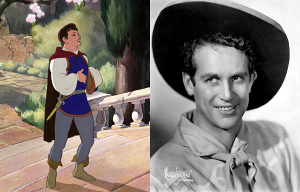 Harry Stockwell as himself and as The Prince in Snow White and the Seven Dwarfs