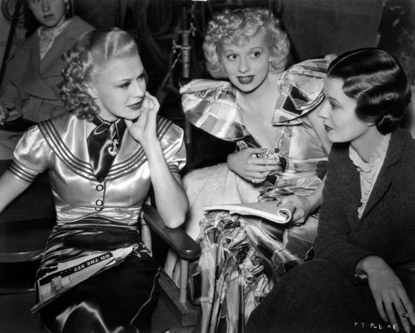 ginger rogers, lucille ball, harriet hilliard, behind the scenes in Follow the Fleet
