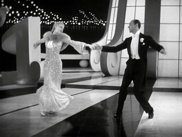 fred and ginger dancing to Let's Face the Music and Dance in Follow the Fleet