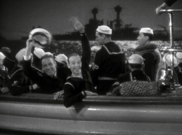 fred astaire and randolph scott, follow the fleet, ending