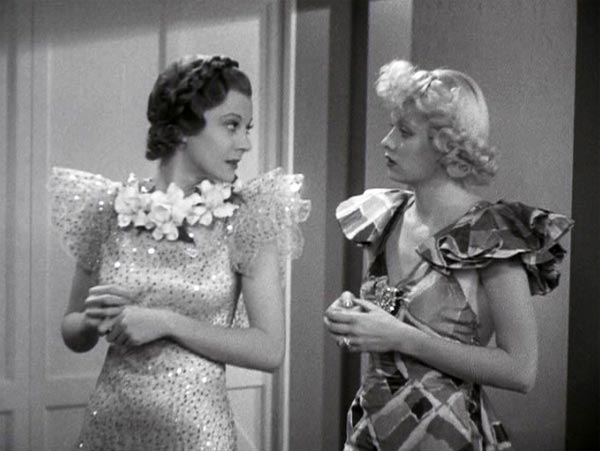 Harriet Hilliard and Lucille Ball in Follow the Fleet, Connie's Transformation