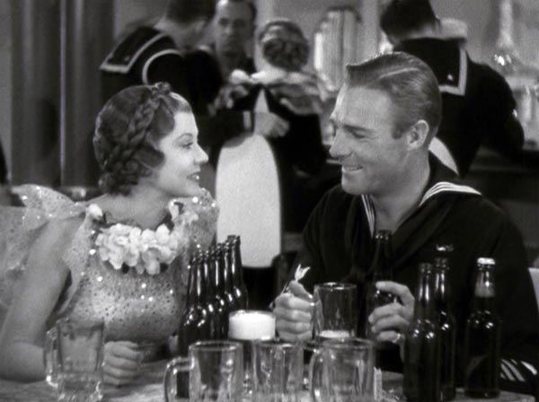 Harriet Hilliard and Randolph Scott, Follow the Fleet, line of defense