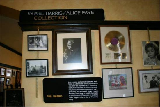 the Phil Harris-Alice Faye Collection in Linton, Indiana.