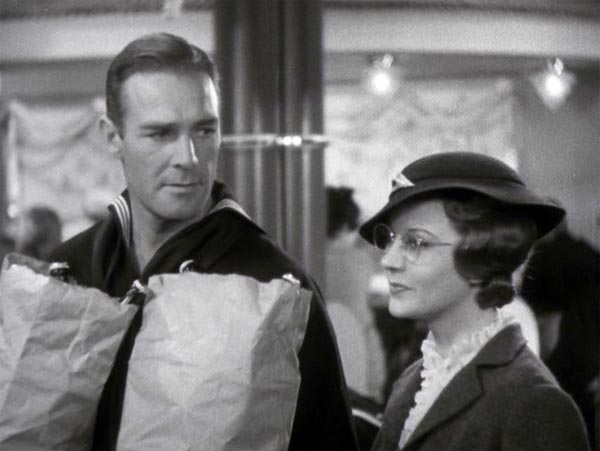 Harriet Hilliard meets Randolph Scott in Follow the Fleet, Bilge and Connie