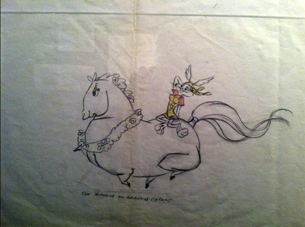 What's Opera Doc, Brunhilde, Bugs Bunny, sketch Chuck Jones Exhibit