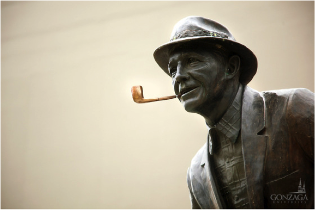 Bing Crosby Statue, close up