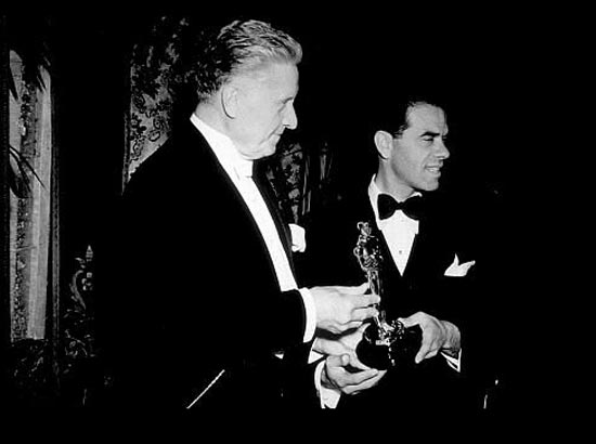Frank Capra receives the Academy Award for You Can't Take it With You