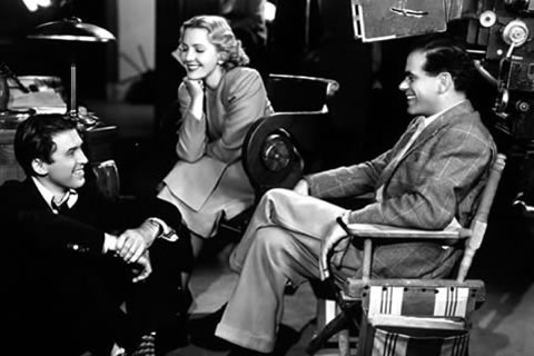 James stewart, jean arthur and frank capra behind the scenes in you can't take it with you