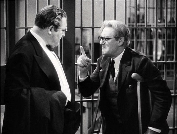 you can't take it with you, edward arnold and lionel barrymore in jail