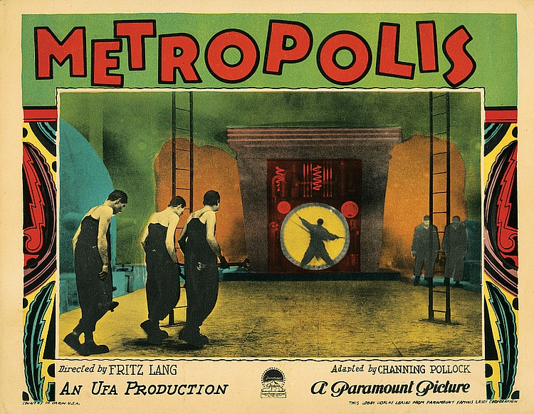 Lot 24 Metropolis lobby card from the Morris Everett Jr. Collection