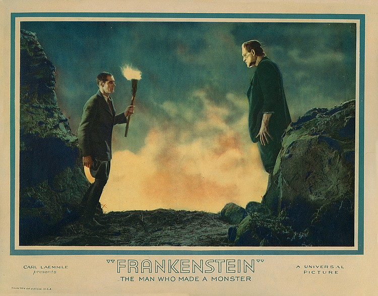 Lot 416 Frankenstein lobby card from Morris Everett Jr. Collection
