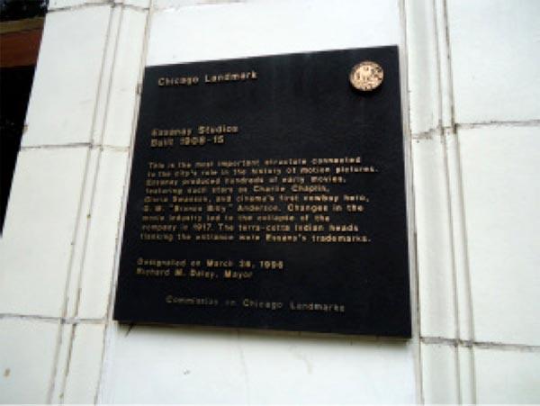 Essanay Plaque