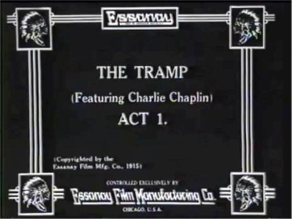 The Tramp, silent movie title card