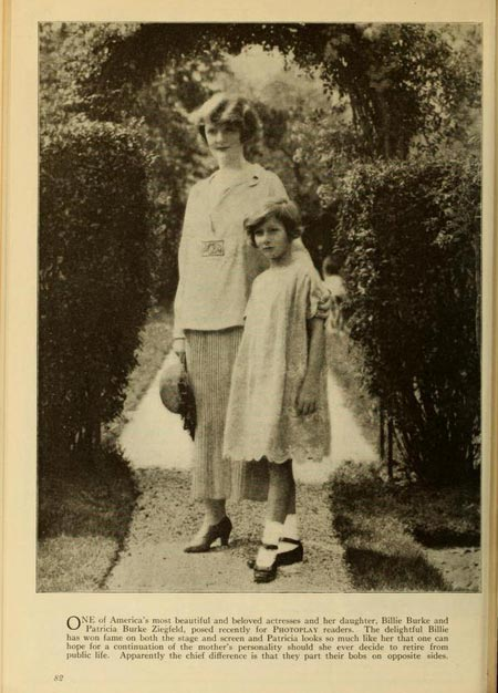 Billie Burke and daughter Patricia.