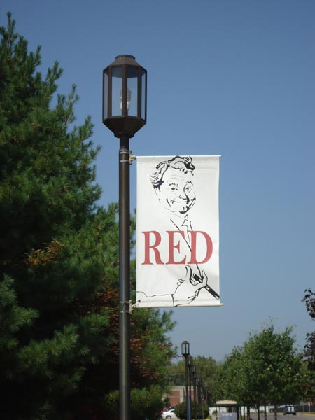 Red Skelton banner in Vincennes Indiana