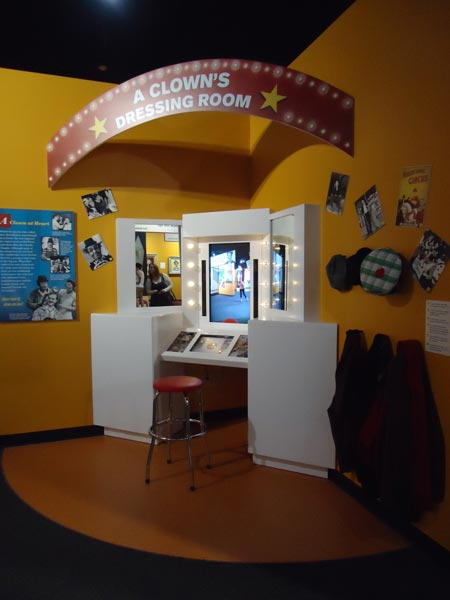 Red Skelton Museum, Clown Dressing Room Interactive Exhibit