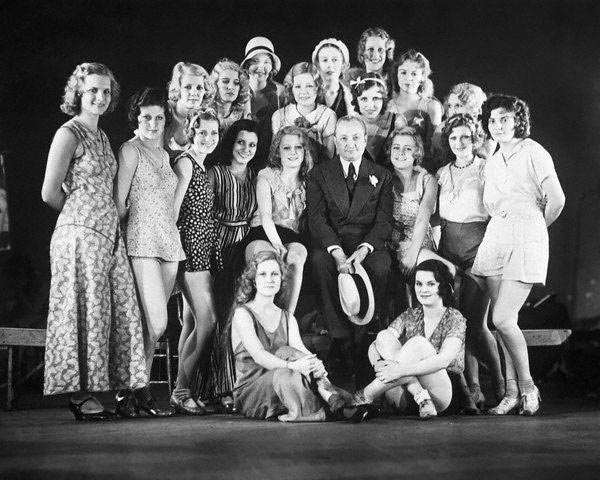Ziegfeld and showgirls, circa 1931.