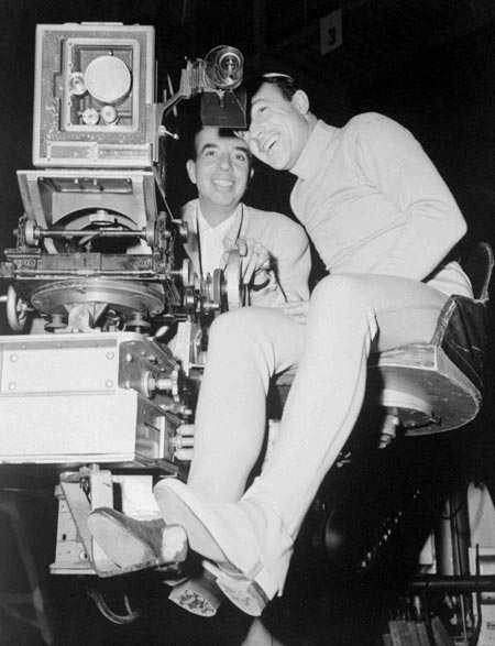 Gene and Vincente Minnelli behind the camera
