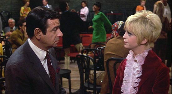 walter matthau and goldie hawn, cactus flower, he's a bum