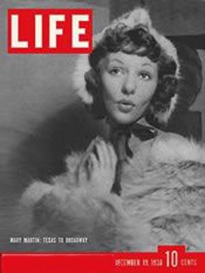 overnight Broadway success Mary Martin appears on the cover of Life Magazine on Dec 19, 1938